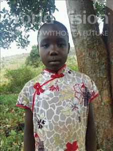 Choose a child to sponsor, like this little girl from Kibiga-Mulagi, DESIRE age 8