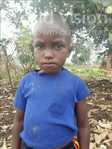 Choose a child to sponsor, like this little boy from Kibiga-Mulagi, Ronald age 5