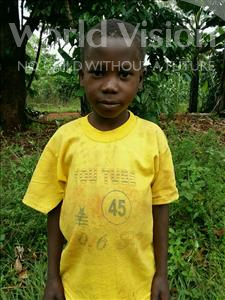 Steven, aged 8, from Uganda, is hoping for a World Vision sponsor