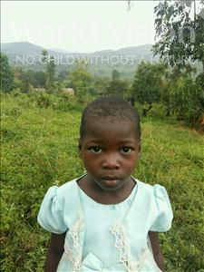 Teopista, aged 6, from Uganda, is hoping for a World Vision sponsor