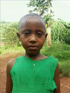 Choose a child to sponsor, like this little girl from Kibiga-Mulagi, Vanesa age 7