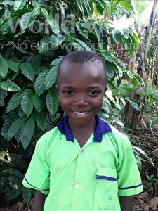 Choose a child to sponsor, like this little boy from Kibiga-Mulagi, Brian age 7