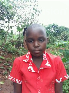 Choose a child to sponsor, like this little girl from Kibiga-Mulagi, Annet age 6