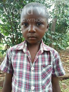 Choose a child to sponsor, like this little boy from Kibiga-Mulagi, Tony age 5