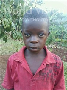 Choose a child to sponsor, like this little boy from Kibiga-Mulagi, Reagan age 9