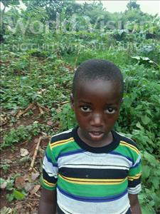 Choose a child to sponsor, like this little boy from Kibiga-Mulagi, Zambia age 5