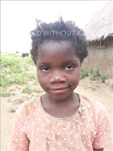 Rhodah, aged 7, from Zambia, is hoping for a World Vision sponsor
