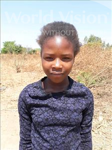 Choose a child to sponsor, like this little girl from Keembe, Regina age 13
