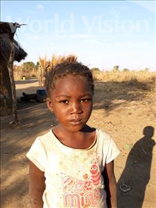 Choose a child to sponsor, like this little girl from Keembe, Justina age 4
