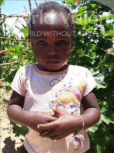Rhodah, aged 3, from Zambia, is hoping for a World Vision sponsor