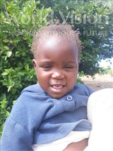 Choose a child to sponsor, like this little girl from Keembe, Cleaner age 2