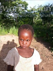 Choose a child to sponsor, like this little girl from Keembe, Metrude age 4