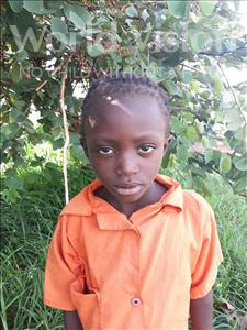 Mweene, aged 6, from Zambia, is hoping for a World Vision sponsor