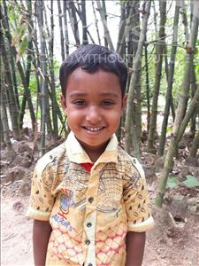 Choose a child to sponsor, like this little boy from Ghoraghat, Sourov Hossain age 5