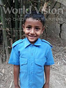 Choose a child to sponsor, like this little boy from Ghoraghat, Soikat age 7