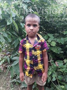 Choose a child to sponsor, like this little boy from Ghoraghat, Sakibul age 5