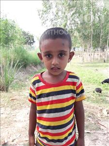 Choose a child to sponsor, like this little boy from Ghoraghat, Mahabub age 4