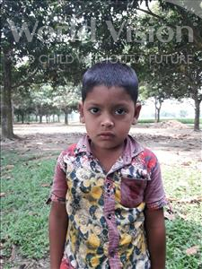Abid, aged 4, from Bangladesh, is hoping for a World Vision sponsor