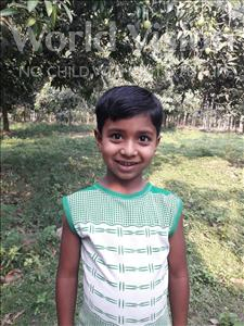 Choose a child to sponsor, like this little boy from Ghoraghat, Atik Sani age 6