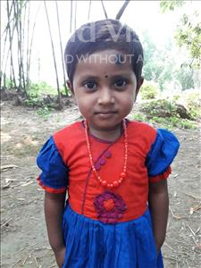 Choose a child to sponsor, like this little girl from Ghoraghat, Robaiya Jannat Rouza age 2