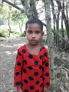 Choose a child to sponsor, like this little girl from Ghoraghat, Boishakhi age 5