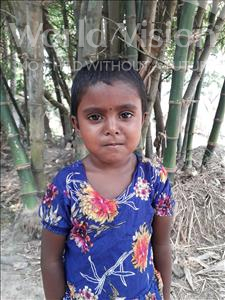 Choose a child to sponsor, like this little girl from Ghoraghat, Sadia age 4