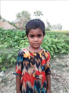 Choose a child to sponsor, like this little girl from Ghoraghat, Maimuna Fatema age 4
