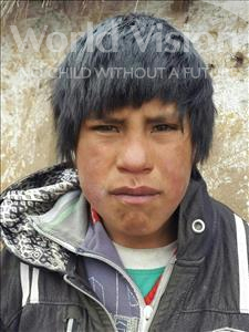 Choose a child to sponsor, like this little boy from Khantati, Delfin age 12