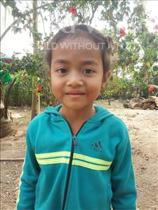 Choose a child to sponsor, like this little girl from Soutr Nikom, Ka In age 5