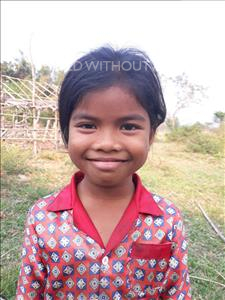 Choose a child to sponsor, like this little girl from Soutr Nikom, Keoum Hang age 8
