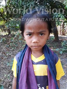 Choose a child to sponsor, like this little girl from Soutr Nikom, Sophany age 7
