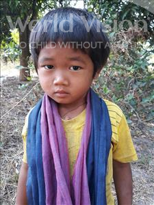 Choose a child to sponsor, like this little boy from Soutr Nikom, Sochea age 5