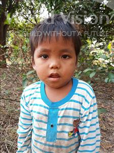 Choose a child to sponsor, like this little boy from Soutr Nikom, Vannin age 3