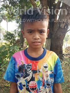 Choose a child to sponsor, like this little boy from Soutr Nikom, Vanda age 10