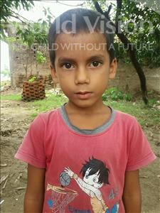 Choose a child to sponsor, like this little boy from Bhojpur, Rajveer age 6