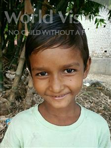Choose a child to sponsor, like this little boy from Bhojpur, Amit age 7