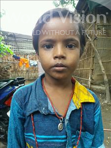 Choose a child to sponsor, like this little boy from Patna, Monu age 6