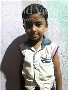 Choose a child to sponsor, like this little boy from Patna, Suryansh age 3