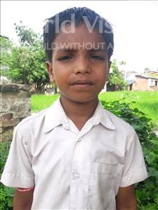 Choose a child to sponsor, like this little boy from Vaishali, Suman age 7