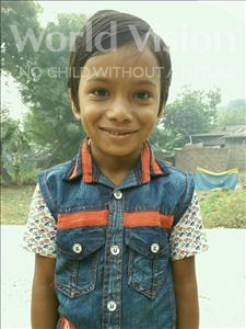 Choose a child to sponsor, like this little boy from Vaishali, Sayam age 7