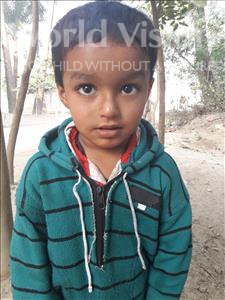 Choose a child to sponsor, like this little boy from Vaishali, Priyanshu age 4