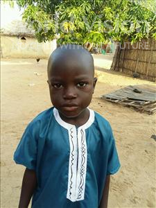 Choose a child to sponsor, like this little boy from Mbella, Aliou age 6