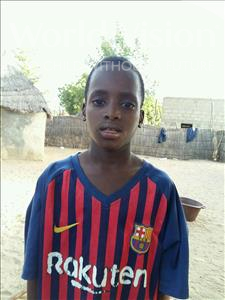 Choose a child to sponsor, like this little boy from Mbella, Ouseynou age 9