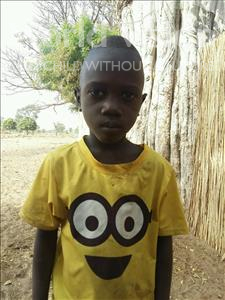 Choose a child to sponsor, like this little boy from Mbella, Babacar age 8