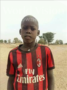 Choose a child to sponsor, like this little boy from Mbella, Aly age 8