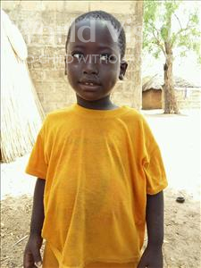 Choose a child to sponsor, like this little boy from Mbella, Aliou age 4