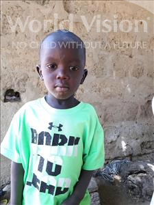 Choose a child to sponsor, like this little boy from Mbella, Soucka Malick age 3