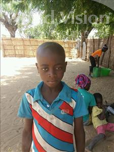 Choose a child to sponsor, like this little boy from Mbella, Moussa age 7