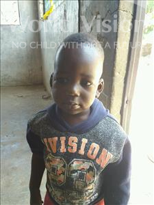 Choose a child to sponsor, like this little boy from Mbella, Elimane age 2