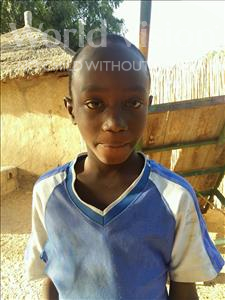 Choose a child to sponsor, like this little boy from Mbella, Pape Sandene age 9